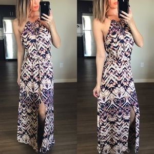 Parker x Barney's New York Tie Halter Maxi Dress S